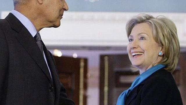 Clinton mit dem ägyptischen Aussenminister