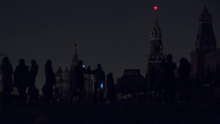 Earth Hour in Moskau