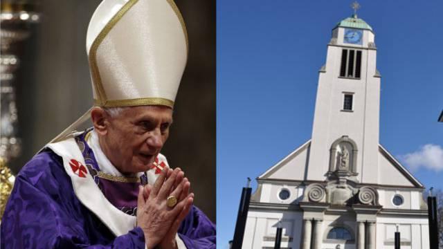 Der Papst bei seiner Sonntagsmesse, Kirche St. Agatha in Dietikon.
