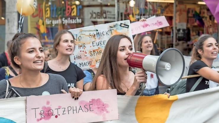 «Trotzphase»-Frauen an einer Aktion letztes Jahr in Bern.