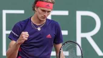 Hart erkämpfter Sieg: Alexander Zverev steht am Geneva Open im Halbfinal