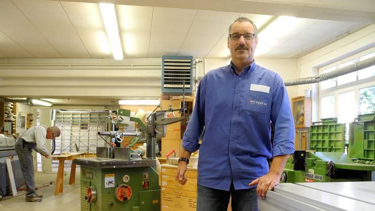 Fritz Krähenbühl ist froh, dass er in Neuenhof einen neuen Standort für seine Schreinerei gefunden hat.