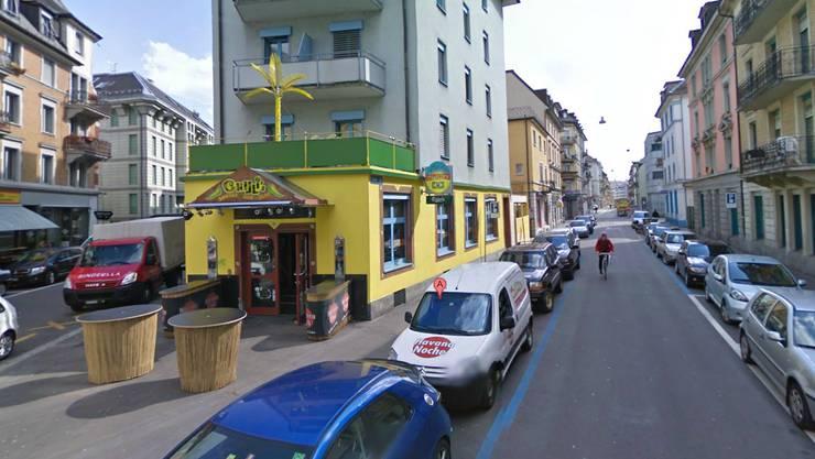 Hier beim Zürcher Sexclub Chilli's an der Müllerstrasse kam es am Montagabend zur Razzia