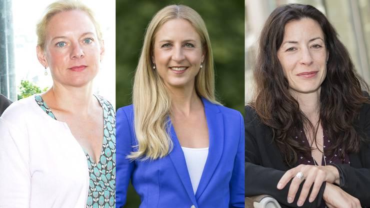 Sie wollen von Eva Herzog übernehmen: Nadine Gautschi, Katja Christ, Tanja Soland (von links).