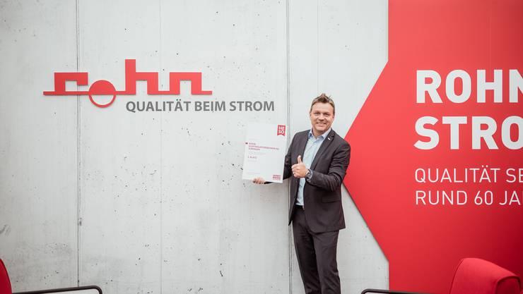 Rohn Elektro-Unternehmen AG mit Inhaber Thomas Siegenthaler