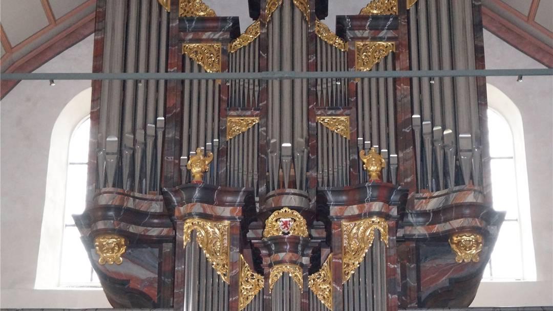 Orgel meets Pop: Organistin Andrea Kobi probt zusammen mit der Band «From Kid» für einen ungewöhnlichen Auftritt am 8. November.