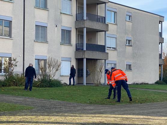 Der Morgen danach: Forensiker der Kantonspolizei suchen Büsche und Wiesen ab