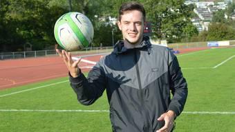 Liestaler Amateur-Fussballer Cedric Bütler für Paulaner Cup 2015