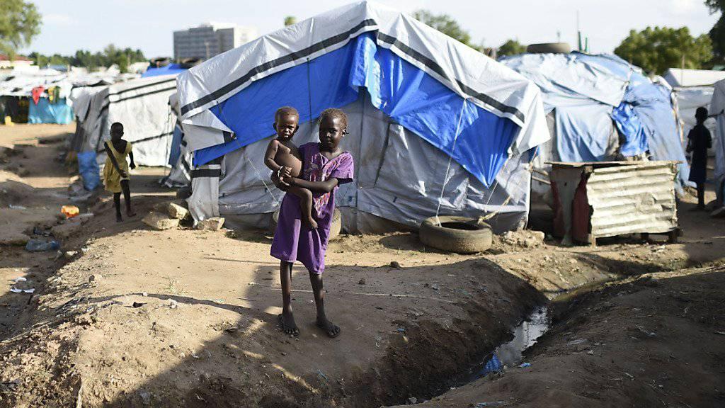 Leben in einem Vertriebenen-Camp. Mehr als zwei Millionen Menschen im Südsudan sind vor den Kämpfen geflohen.