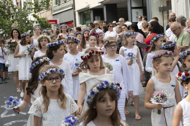 Rutenzug und Morgenfeier am Jugendfest Brugg, 4. Juli 2019.