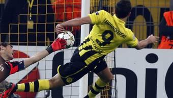 Robert Lewandowski erzielte das 1:0 für Dortmund.