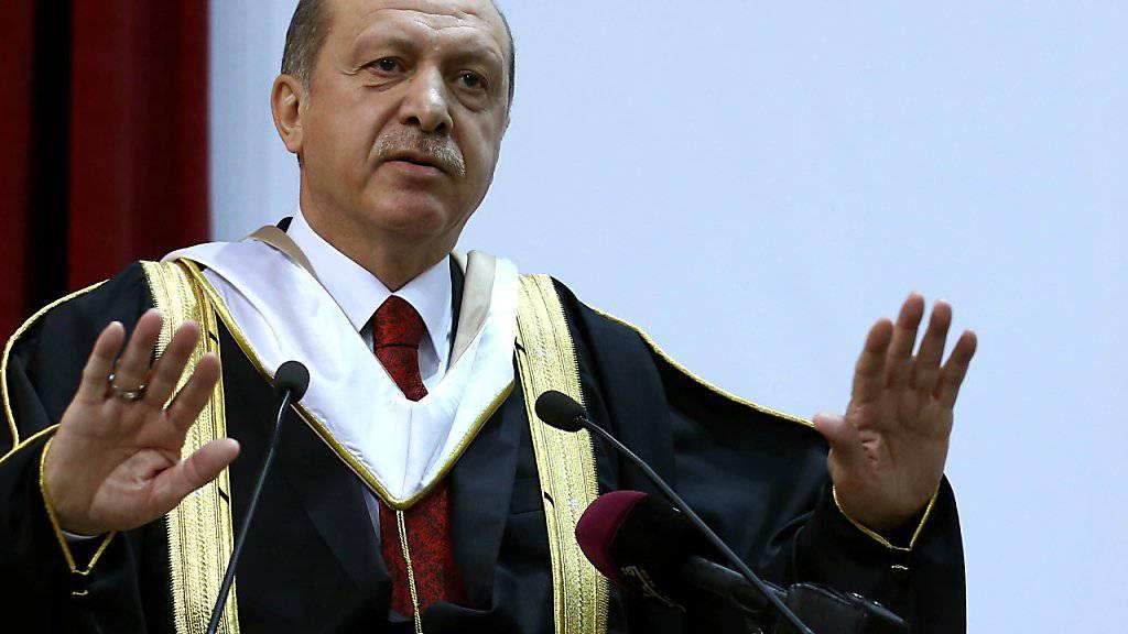 Der türkische Präsident Erdogan versucht die Wogen zu glätten, nachdem ein Zitat «falsch interpretiert» wurde. (Archiv)