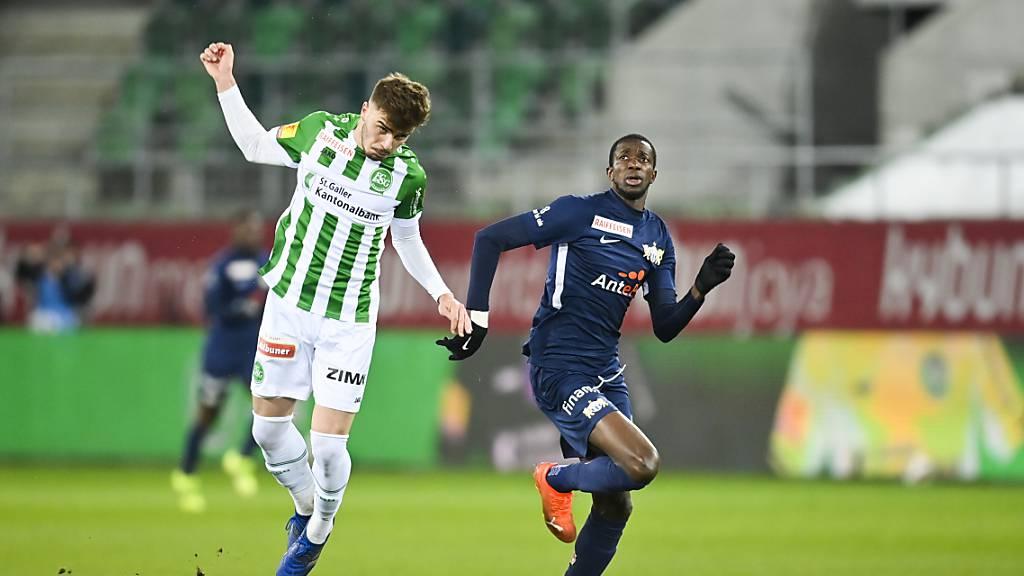 FCSG für gute zweite Halbzeit nicht belohnt: St. Gallen – Zürich 1:1