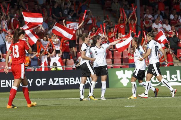 Nina Burger erzielte nach 15. Minuten das Siegtor für die Österreicherinnen.