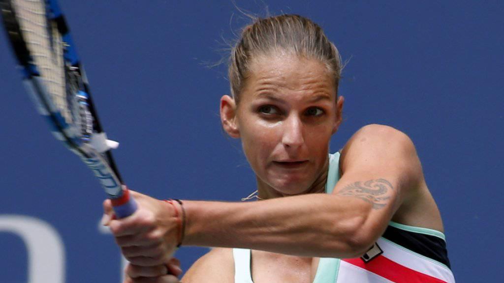 Karolina Pliskova quält sich in den Achtelfinal