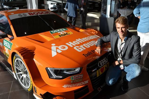 Nico Müller brachte zum Besuch bei der AMAG in Schinznach-Bad einen Audi RS 5 DTM aus der letztjährigen Rennsaison mit