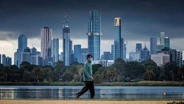 Die Skyline von Melbourne: In der australischen Metropole wütet das Coronavirus wieder, nachdem es unter Kontrolle schien.