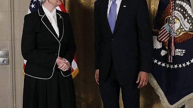 Obama und die kroatische Ministerpräsidentin Jadranka Kosor