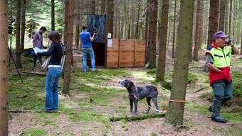 Die Pantherfalle bei Kestenholz wurde gestern den Medien vorgestellt. zvg