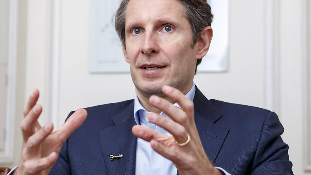 Max Chuard, Chef der Bankensoftwarefirma Temenos, kann sich im ersten Quartal 2021 über höhere Umsätze und mehr Gewinn freuen. Vor allem die Vergabe von Lizenzen lief stark. (Archivbild)