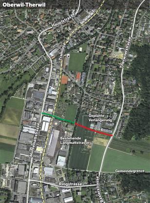 Um von der östlichen Talachse (Therwilerstrasse-Baslerstrasse) zur westlichen (Mühlemattstrasse-Hauptstrasse) zu gelangen, muss man jetzt durch dicht bebautes Gebiet und über die Tramlinie fahren.