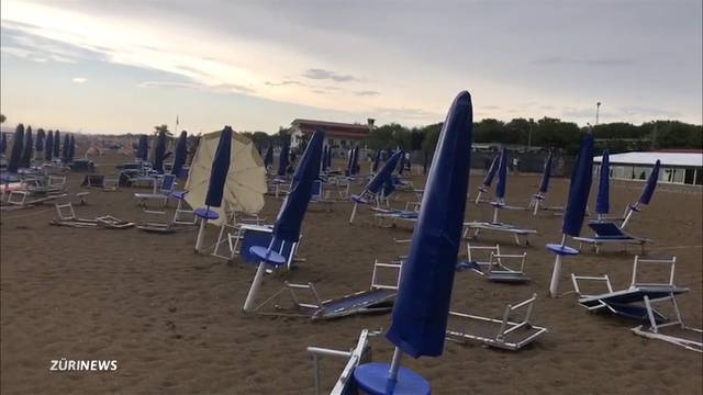 Sturm verwüstet Lieblings-Campingplatz der Schweizer
