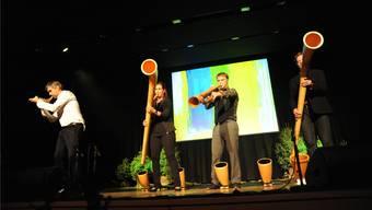 Das Hornroh Modern Alphornquartett mit Jennifer Tauder.