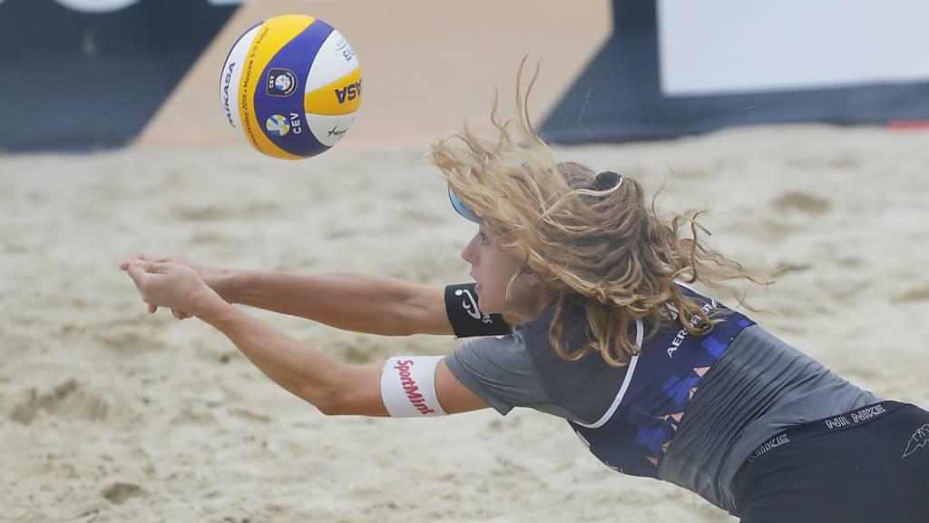 Endstation Achtelfinals für der Schweizer Beachvolleyball-Duos