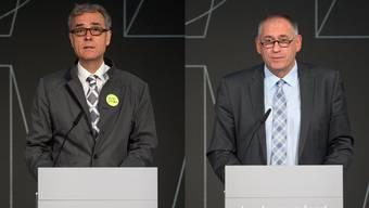 Guy Morin und Hans-Peter Wessels (r.), die zwei Kantonsvertreter.