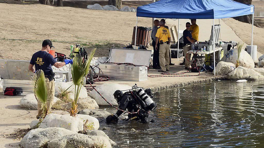 In diesem See in San Bernardino vermutet das FBI Beweisstücke der getöteten Attentäter von San Bernardino.