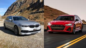 Die Vorzeigemodelle von BMW und Audi: der B5 Biturbo und der RS6.