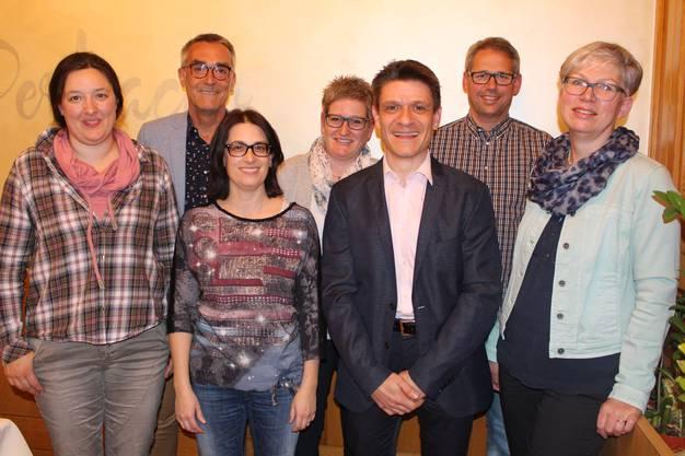 Franziska Hochstrasser, Ruedi Rickenbacher, Martina Flückiger, Gabi Stiegeler, Matthias Suter, Daniel Schenker und Erika Schranz