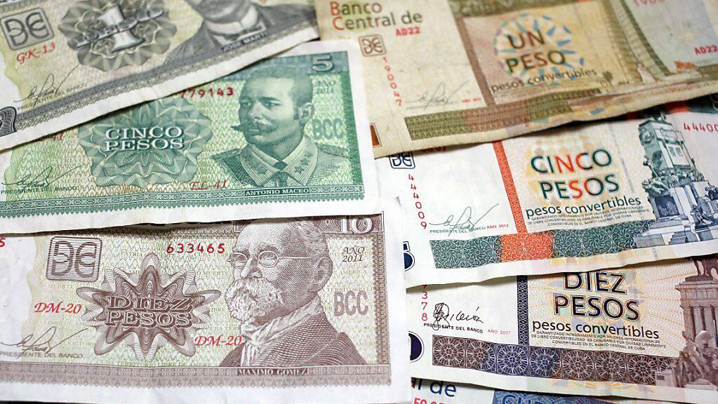 Kuba schafft ab kommendem Jahr sein doppeltes Währungssystem mit zwei unterschiedlichen Geldeinheiten ab. (Archivbild)