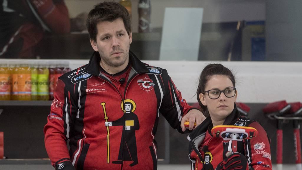 Martin Rios und Jenny Perret nehmen am Curling-Turnier in St.Gallen teil.