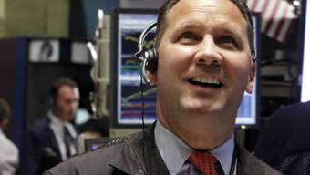 Scheint zufrieden: Börsenhändler in New York