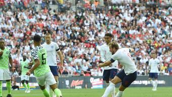 Harry Kane ist mit einem Flachschuss für die Engländer erfolgreich
