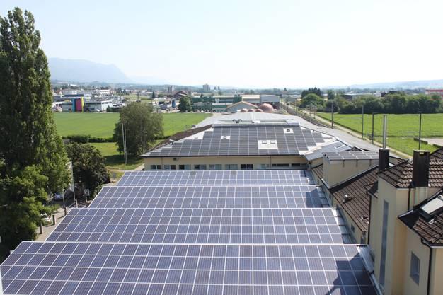 Die Solaranlage hat 750 kW Leistung