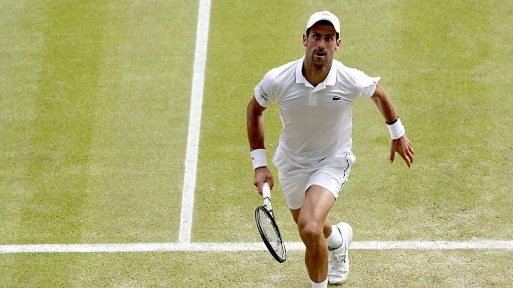 Titelverteidiger Novak Djokovic erreichte in Wimbledon seinen 36. Grand-Slam-Halbfinal