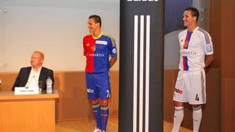 Adidas und der FC Basel präsentieren die neuen Trikots der Saison 2012/2013.
