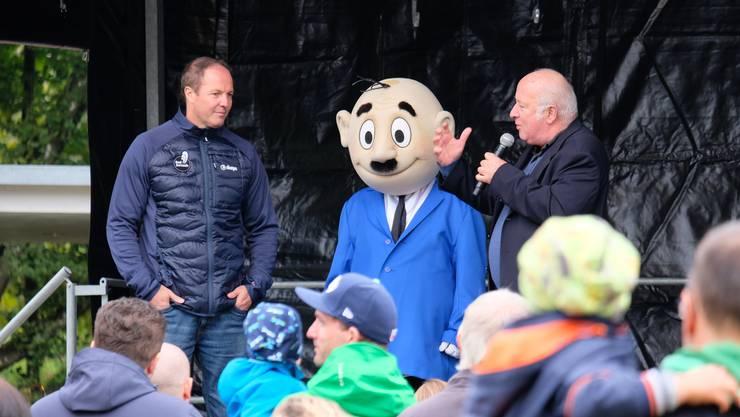 Dominik Keller, Papa Moll und Roy Oppenheim (von links)
