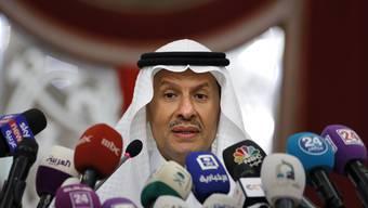 Die Lage am Persischen Golf spitzt sich zu. Der saudische Energie-Minister Abdulaziz bin Salman am Dienstag während einer Pressekonferenz.