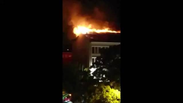 Brand im Hotel Passage in Grenchen
