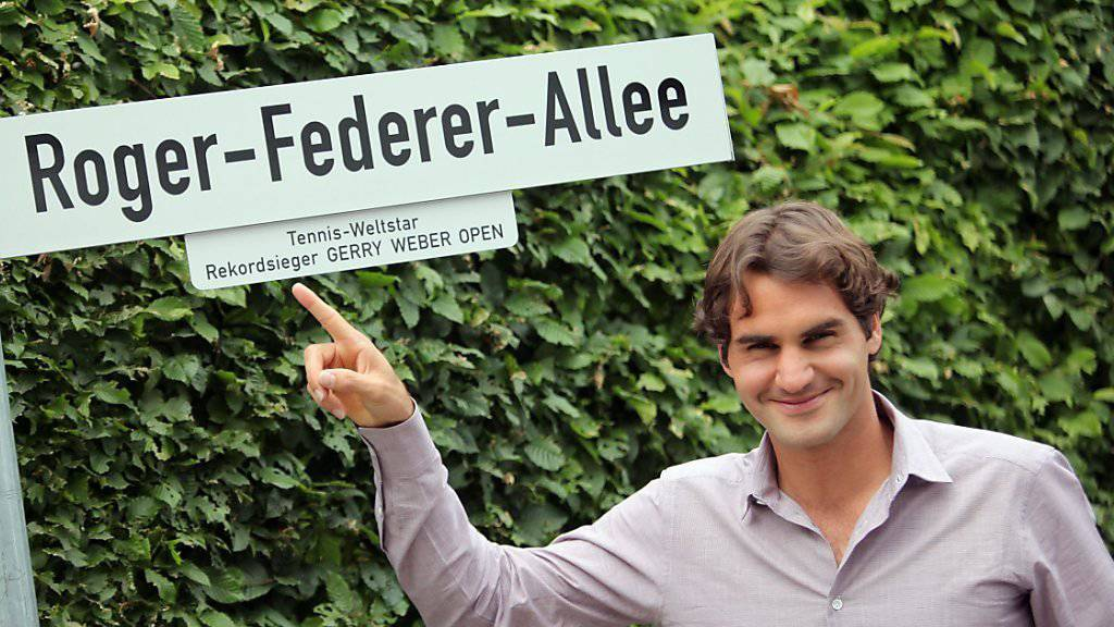 Roger Federer - hier in Halle - erhält nun auch in Biel eine nach ihm benannte Strasse