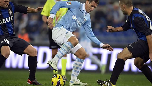 Miroslav Klose schoss Lazio zum Sieg über Inter Mailand