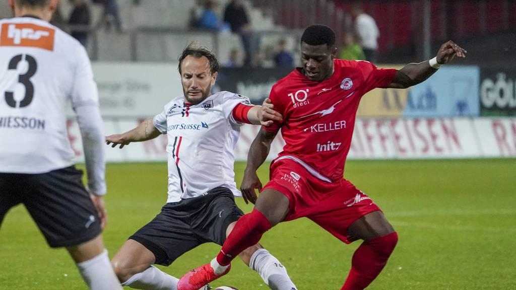 Der FC Aarau beschliesst die englische Woche in Winti mit einem 0:0