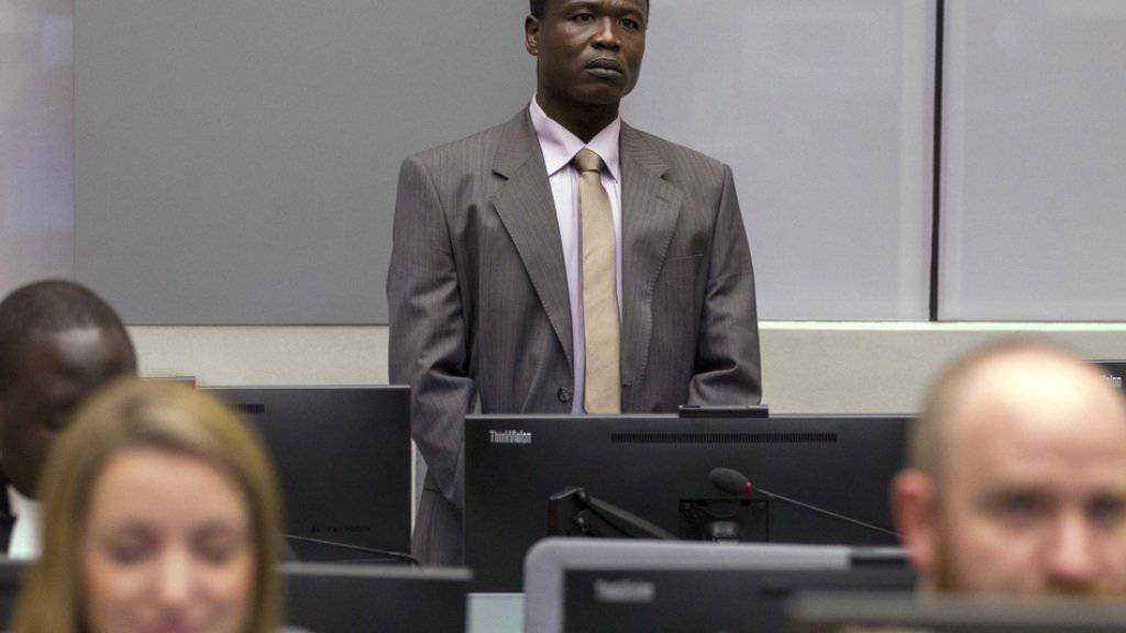 Dominic Ongwen am Donnerstag vor dem Weltstrafgericht in Den Haag.