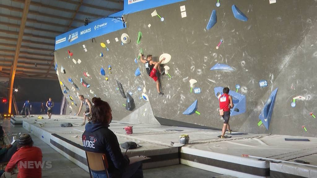 Auftakt Boulder-Weltcup in Meiringen: Burgdorfer Sascha Lehman schafft es ins Halbfinale
