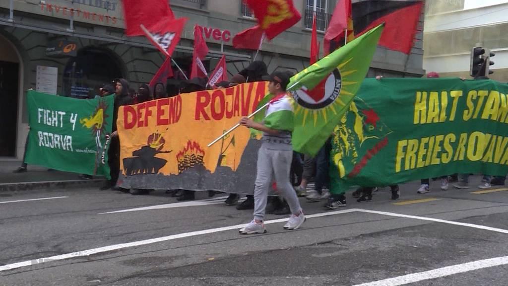 Angespannte Lage an «Krieg dem Krieg»-Demo