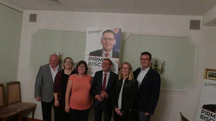Peter Kyburz, Theres Schenker, Muriel Jeisy-Strub, Pirmin Bischof, Andrea Büttiker und Bartolomeo Vinci (v. links)