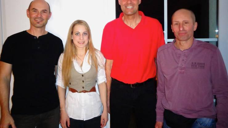 Der neue Vorstand v.l.n.r.: Bammert Adi, Andermatt Viviana, Waldenmaier Wolfgang, Fehr Mark